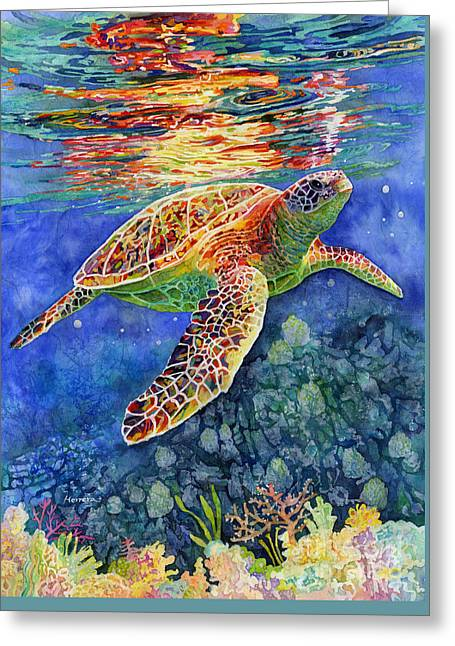 Turtle Reflections Greeting Card