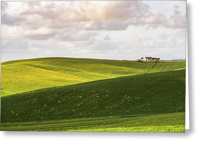 Tuscan Landscapes. Hills In The Spring Greeting Card