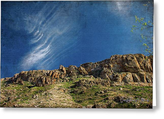 Greeting Card featuring the digital art Tuscon Clouds by Christopher Meade