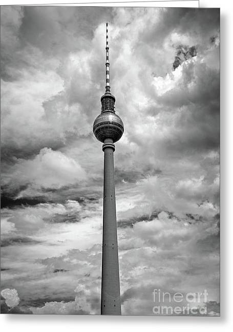 Tv Tower In Berlin Greeting Card