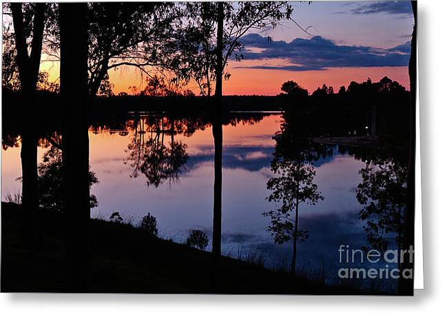 Twilight By The Lake Greeting Card