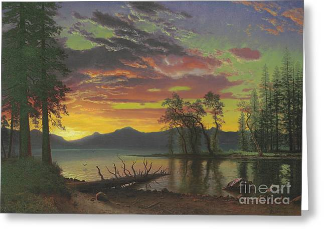 Twilight, Lake Tahoe Greeting Card