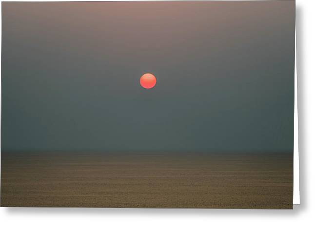 Twilight Sunset At Sea Greeting Card