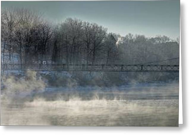 Two Cent Bridge At -5f Greeting Card