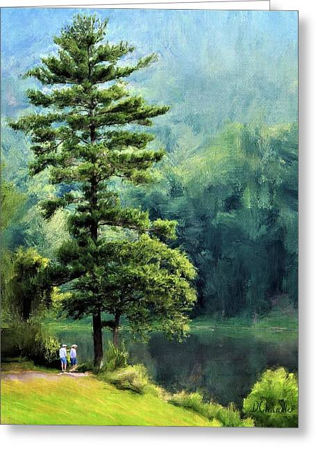 Two Guys And A Pond Greeting Card
