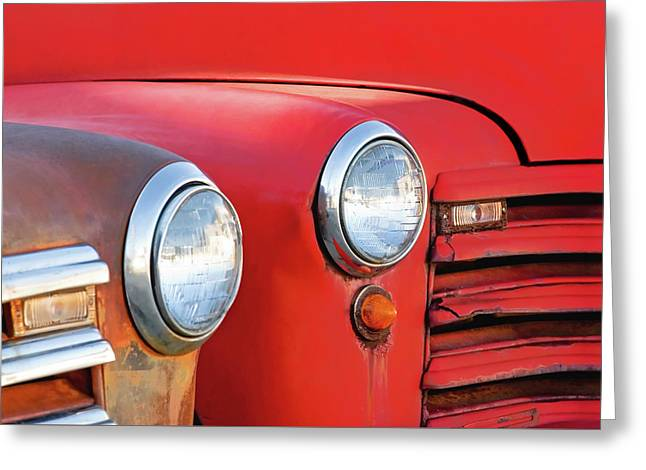 Two Headlights Greeting Card