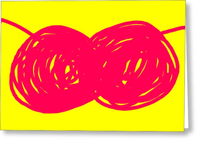 Two Red Cherries Greeting Card