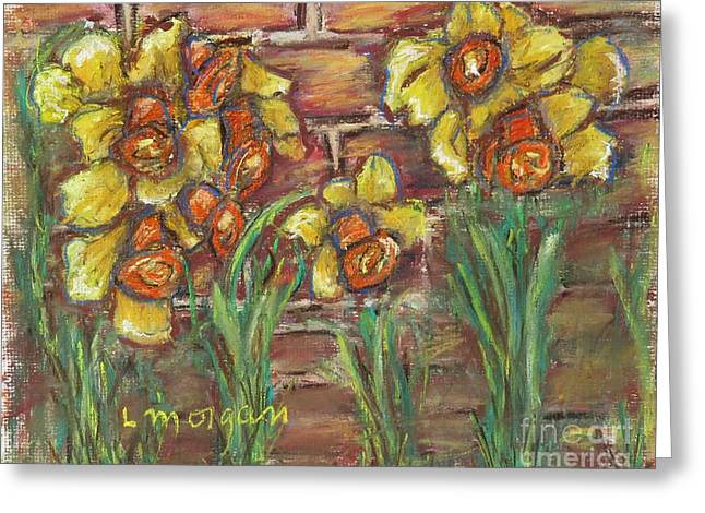 Two Toned Daffodils Greeting Card