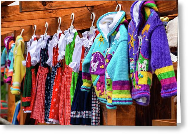 Tyrolean Fashion For Kids Greeting Card