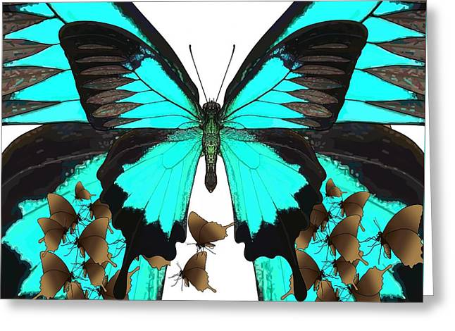 U Is For Ulysses Butterfly Greeting Card