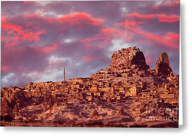 Uchisar Castle, Cappadocia Greeting Card