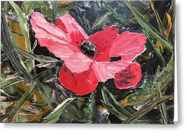 Umbrian Poppies 1 Greeting Card