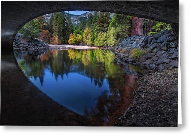 Under The Bridge In Yosemite Greeting Card
