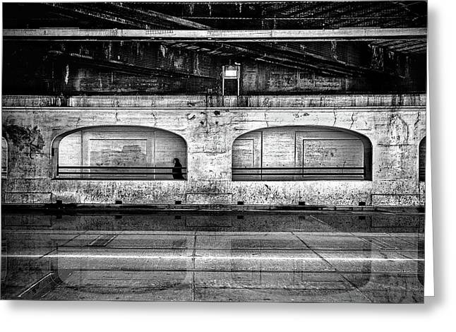 Greeting Card featuring the photograph Under The Overpass Reflection by Brian Carson