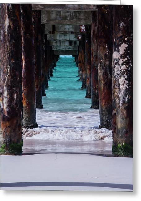 Under The Pier #3 Opf Greeting Card