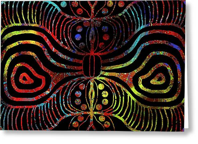 Under The Sea Digital Patterns Of Life Greeting Card