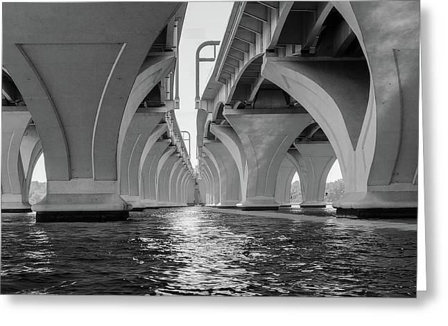 Under The Woodrow Wilson Bridge Greeting Card