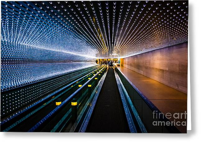 Underground Moving Walkway At The Greeting Card