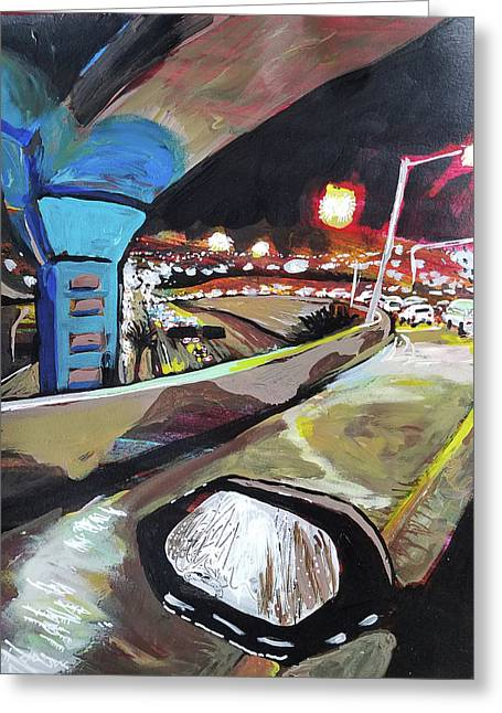 Underpass At Nighht Greeting Card