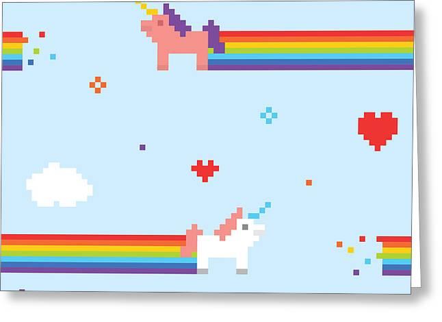 Unicorn Seamless Vector Pattern Greeting Card