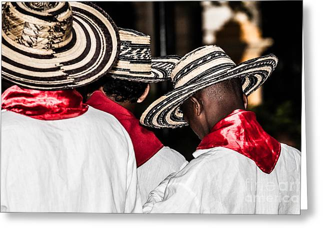 Unidentified Colombian Dancers Greeting Card