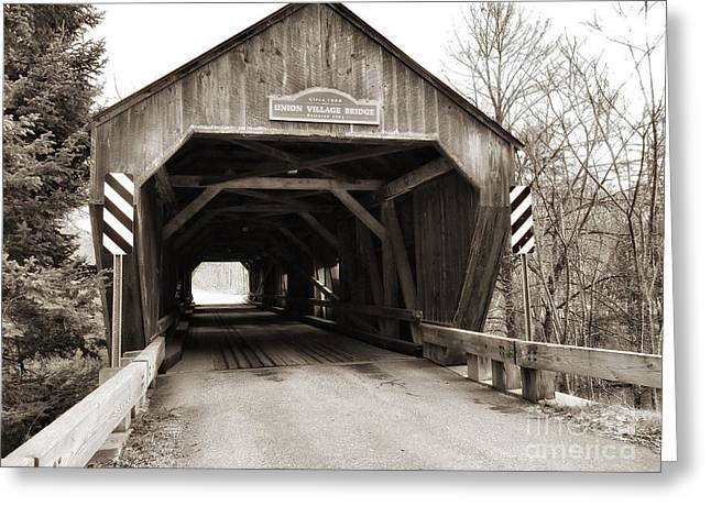 Union Village Covered Bridge Greeting Card