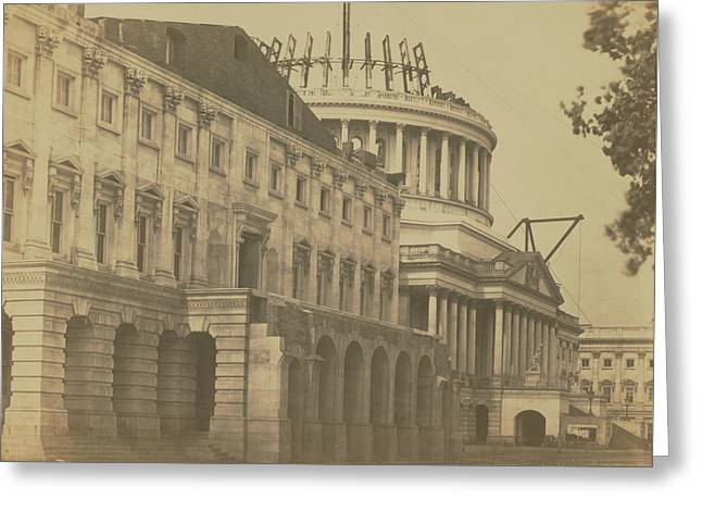 United States Capitol Under Construction Greeting Card