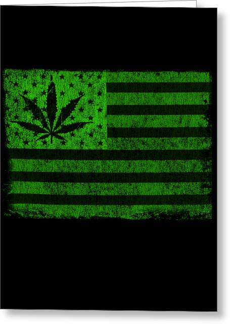 United States Of Cannabis Greeting Card