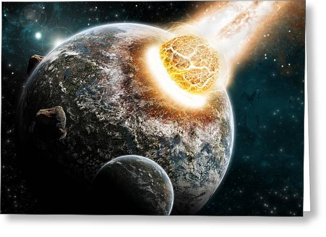 Universe And Planet Exploration - Earth Greeting Card