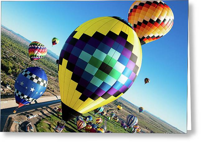 Up, Up, And Away Greeting Card