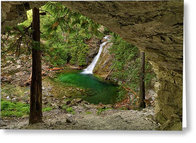 Upper Priest Falls Textures Greeting Card by Leland D Howard