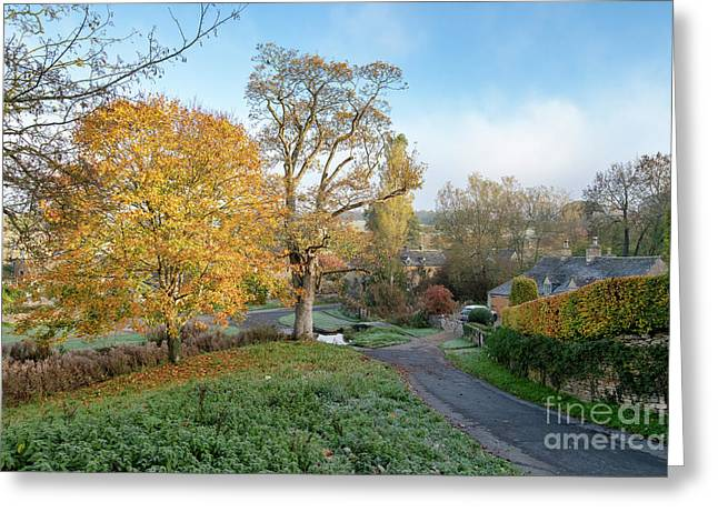 Upper Slaughter In The Autumn Greeting Card