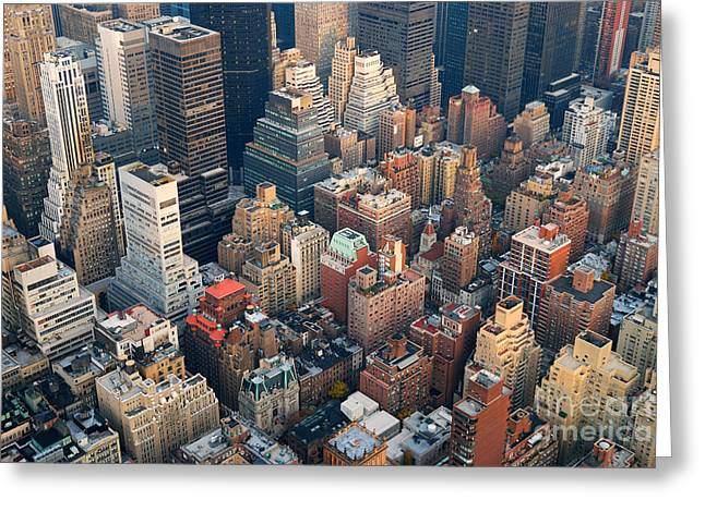Urban City Architecture Background. New Greeting Card