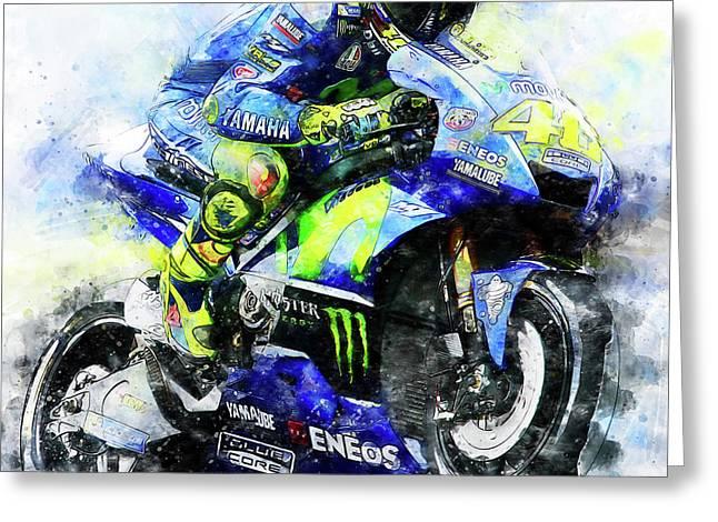 Valentino Rossi - 18 Greeting Card by Andrea Mazzocchetti
