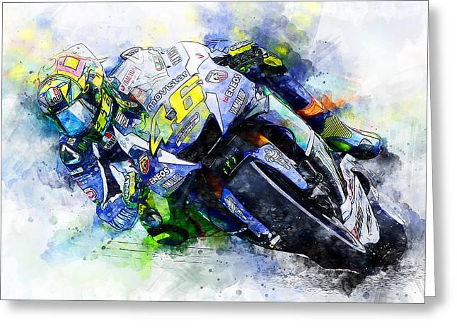 Valentino Rossi - 20 Greeting Card