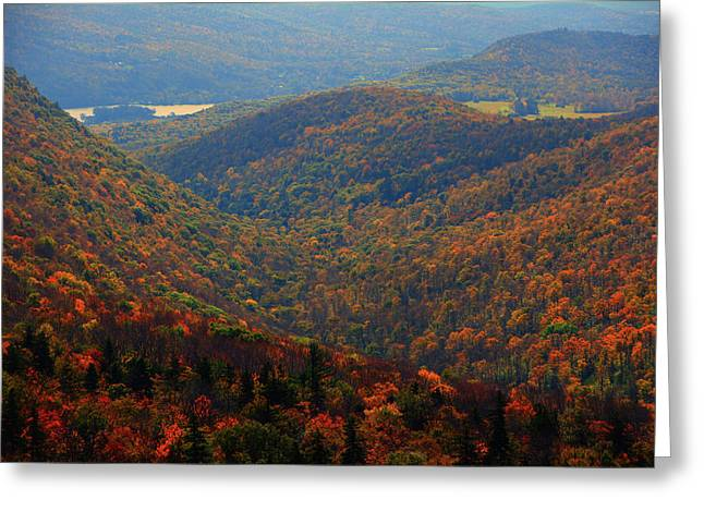Greeting Card featuring the photograph Valley Below Mount Greylock 2 by Raymond Salani III