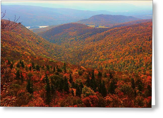 Greeting Card featuring the photograph Valley Below Mount Greylock by Raymond Salani III