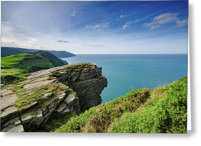 Valley Of The Rocks Views Greeting Card