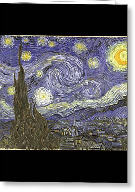 Van Goh Starry Night Greeting Card