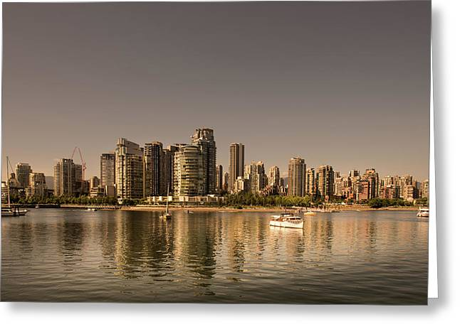 Vancouver Golden Light Hour Greeting Card