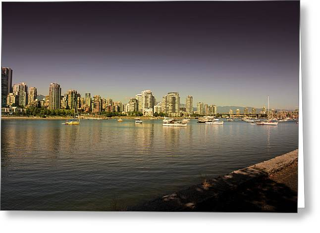 Vancouver In Magical Hours Greeting Card