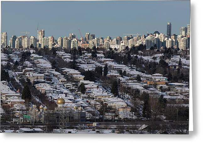 Greeting Card featuring the photograph Vancouver In Winter No. 1 by Juan Contreras
