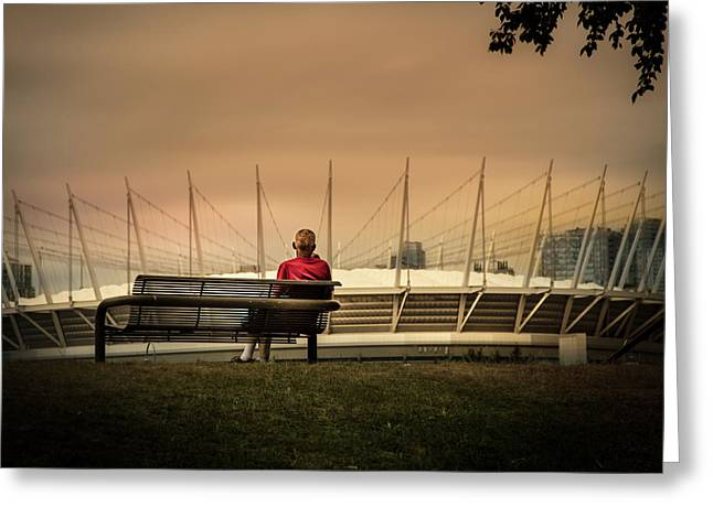 Vancouver Stadium In A Golden Hour Greeting Card