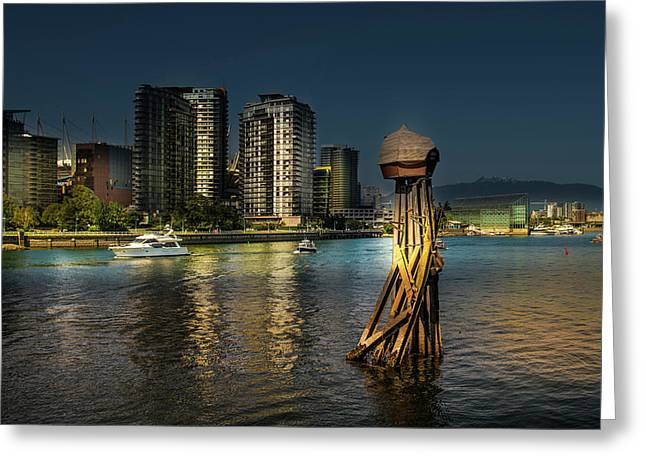 Vancouver Sunset Greeting Card