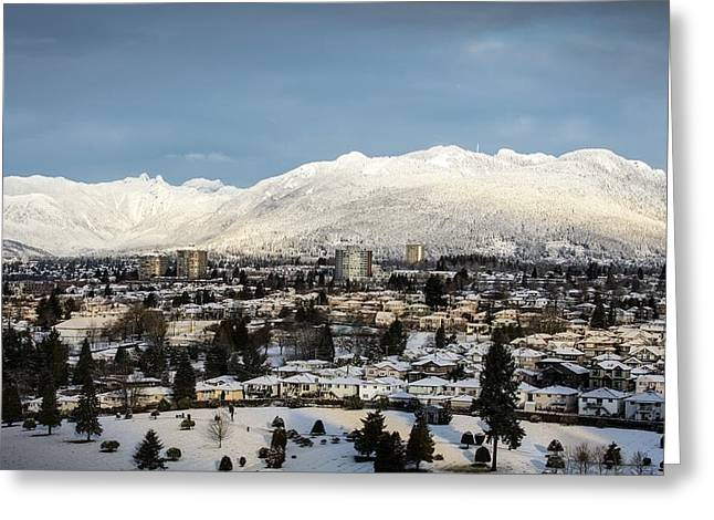 Vancouver Winterscape Greeting Card