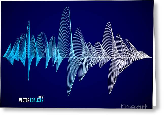 Vector Equalizer, Colorful Musical Bar Greeting Card