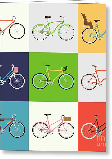 Vector Flat Modern Urban, Town And City Greeting Card