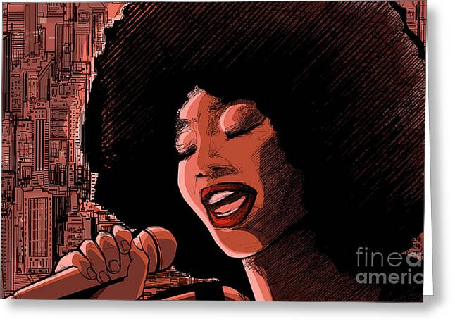Vector Illustration Of An Afro American Greeting Card