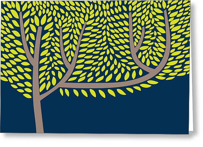 Vector Illustration With Abstract Tree Greeting Card