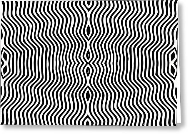 Vector - Optical Art Greeting Card